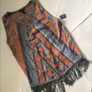 INC aztec Vest! Soft and warm! NWT! SZ L!